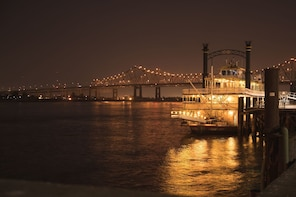 Show item 3 of 8. River boat at night in New Orleans