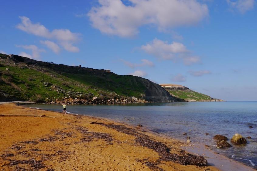 View of Ramla Bay on the island of Gozo
