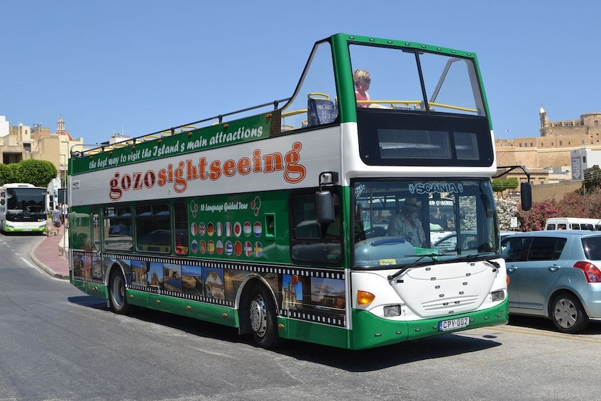 Hop-on Hop-off bus tour in the island of Gozo