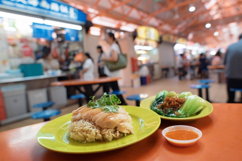 Show item 2 of 4. Michelin 1-star Chicken Rice & Local Hawker Food Tour