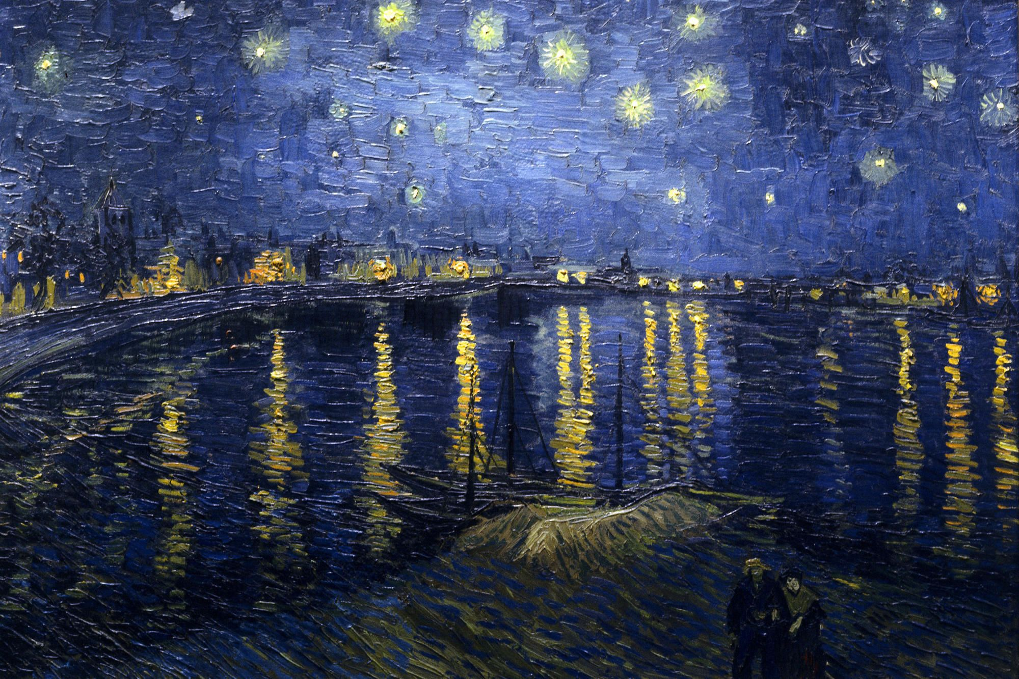Starry Night Over the Rhône Painting by Vincent van Gogh