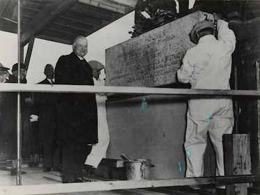 Historic photo of President Hoover at the National Archives in Washington DC