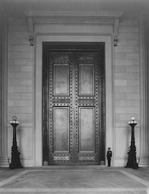 Massive doors to the National Archives building in Washington DC