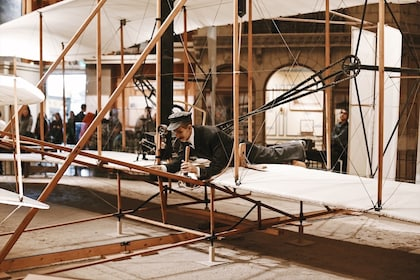 An early airplane at the Smithsonian National Air & Space Museum in Washington DC