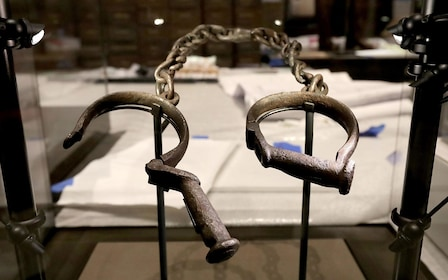Antique handcuffs at a museum in Washington DC