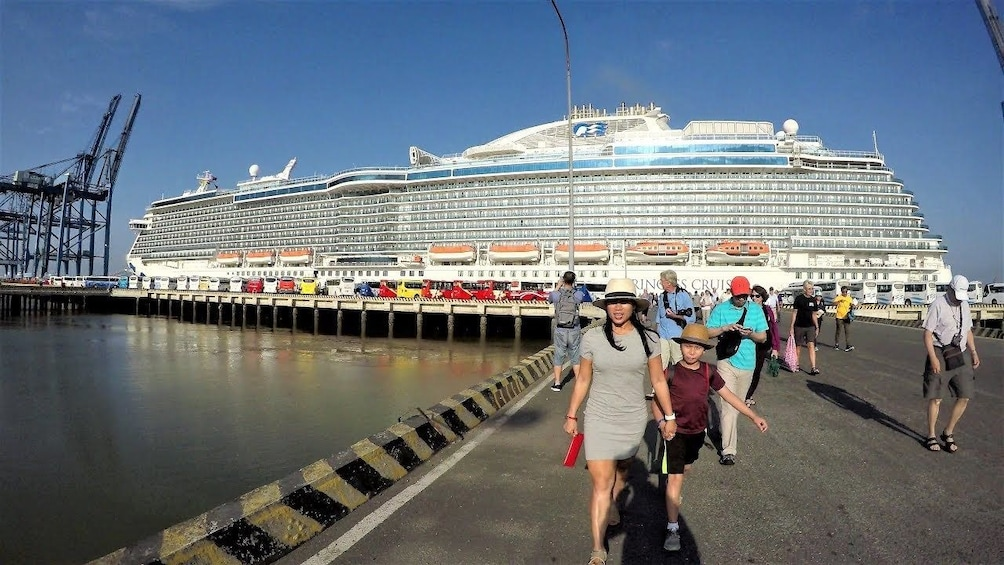 Show item 1 of 3. Cruise ship passengers in Ho Chi Minh City