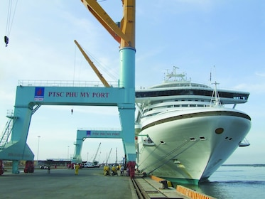 Cruise ship in port in Ho Chi Minh City