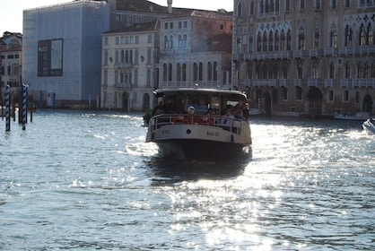 Boat on the Grand Canal in Venice