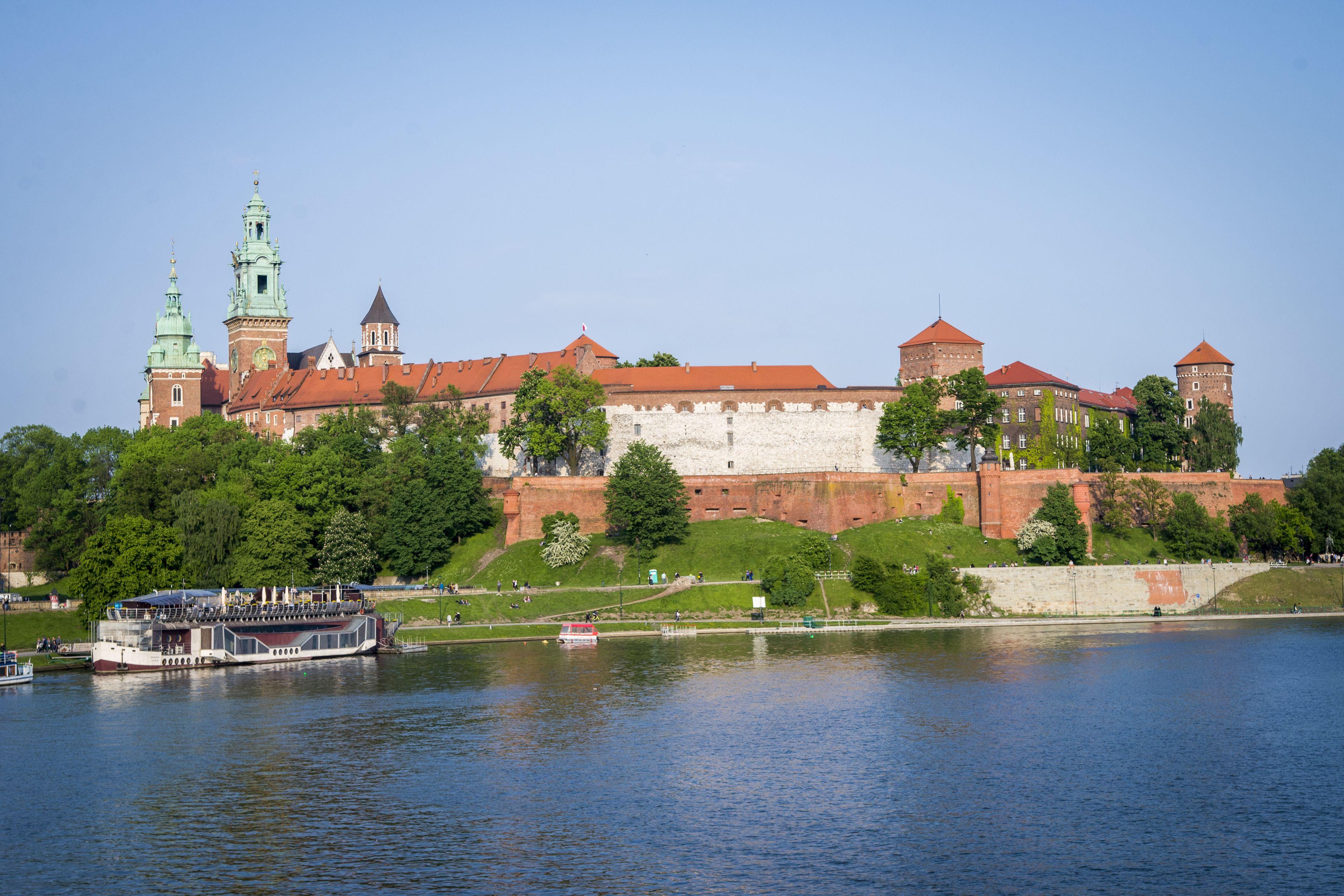 Landscape view of Wawel Castle