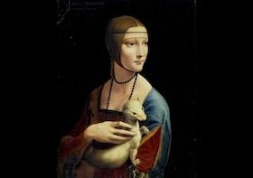 Boleto a la exposición de La dama del armiño de Leonardo da Vinci
