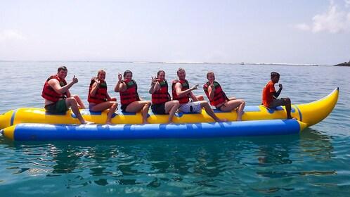 Group banana boat ride in Bali