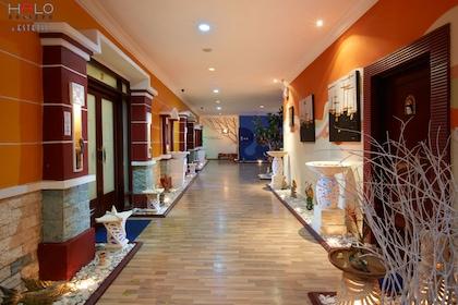 Hallway inside Halo Bali spa