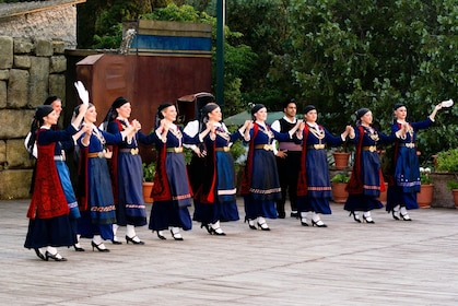 Group of Greek dancers in Athens