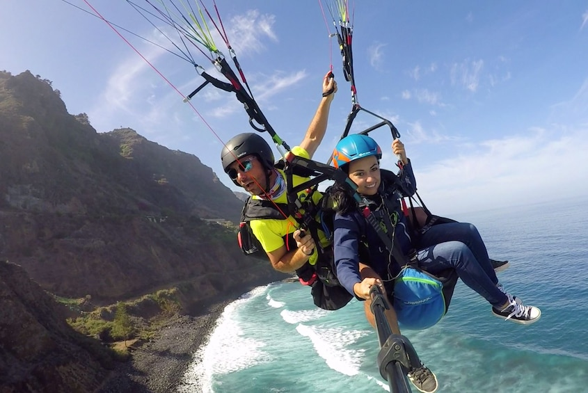 Show item 1 of 4. Tandem paragliding in Tenerife