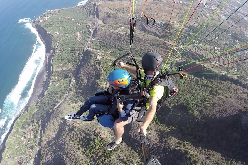 Show item 3 of 4. Tandem paragliding in Tenerife