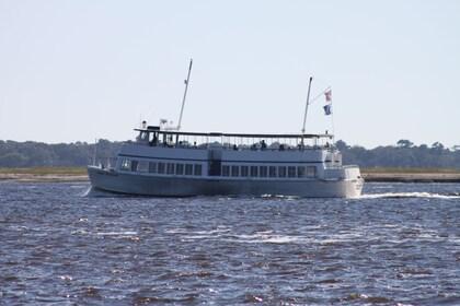 Boat in Charleston Harbor in South Carolina