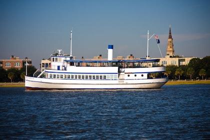 Ship in Charleston Harbor in South Carolina