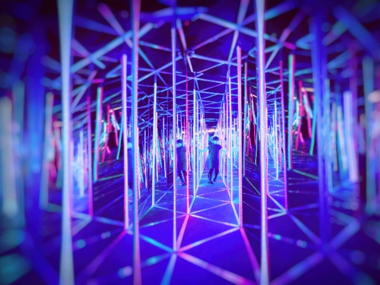 Colorful Mirror maze