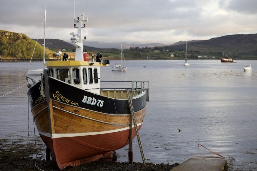 Boat on the Isle of Skye in Scotland