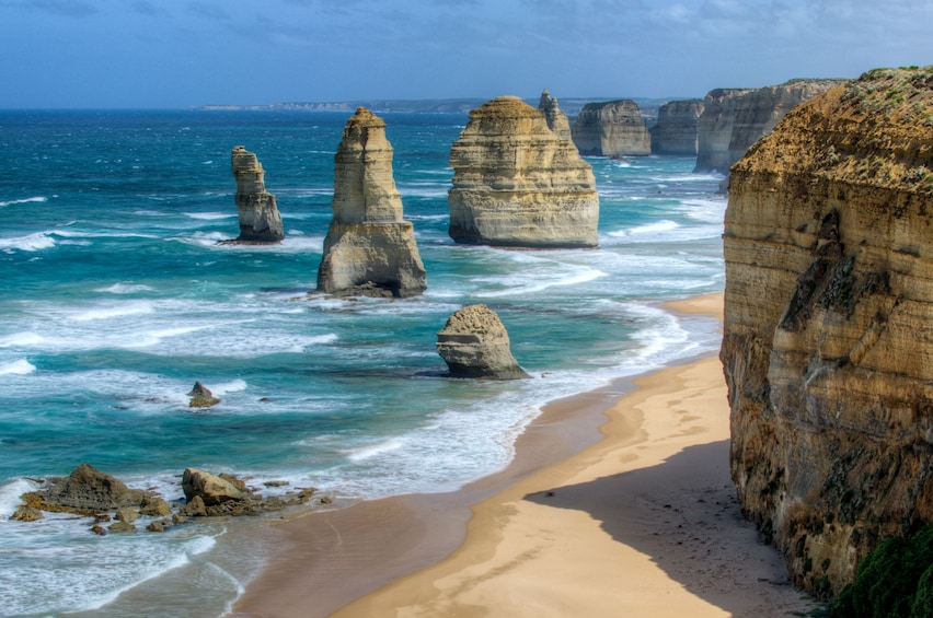 Show item 5 of 10. Rock formations along the coast in Australia