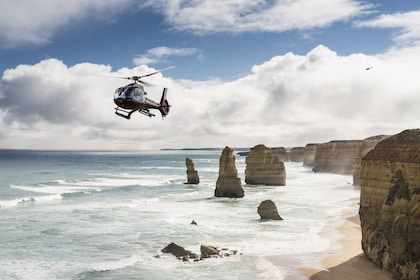 Helicopter over the coast in Australia