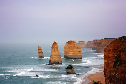 Rock formations along the coast in Australia