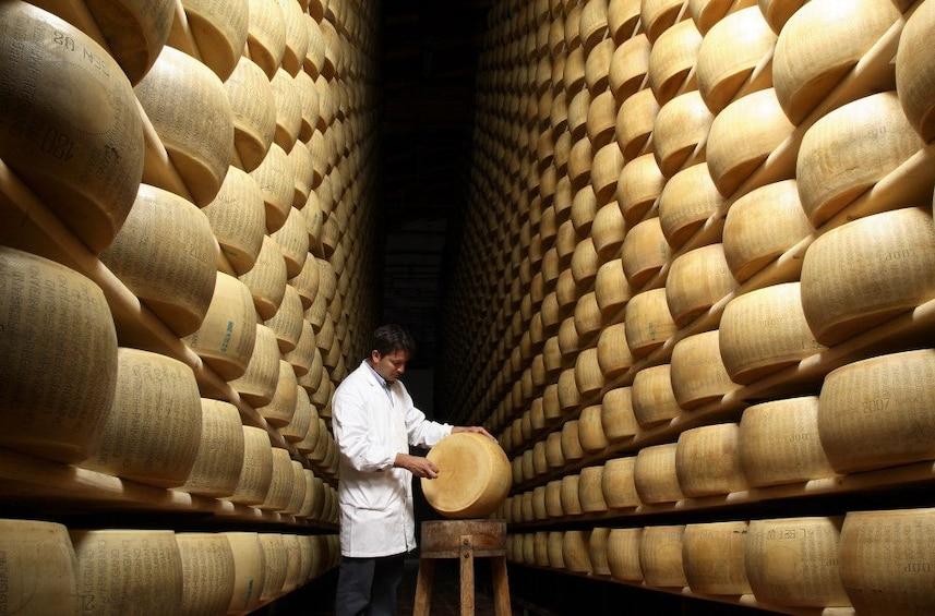 Show item 8 of 8. Parma: Parmigiano Reggiano Cheese Tasting Tour