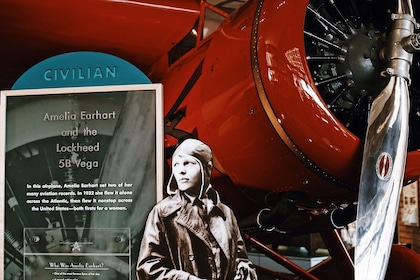 Amelia Earhart exhibit at the Smithsonian National Air and Space Museum in Washington DC