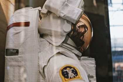 Astronaut's suit at the Smithsonian National Air & Space Museum in Washington DC