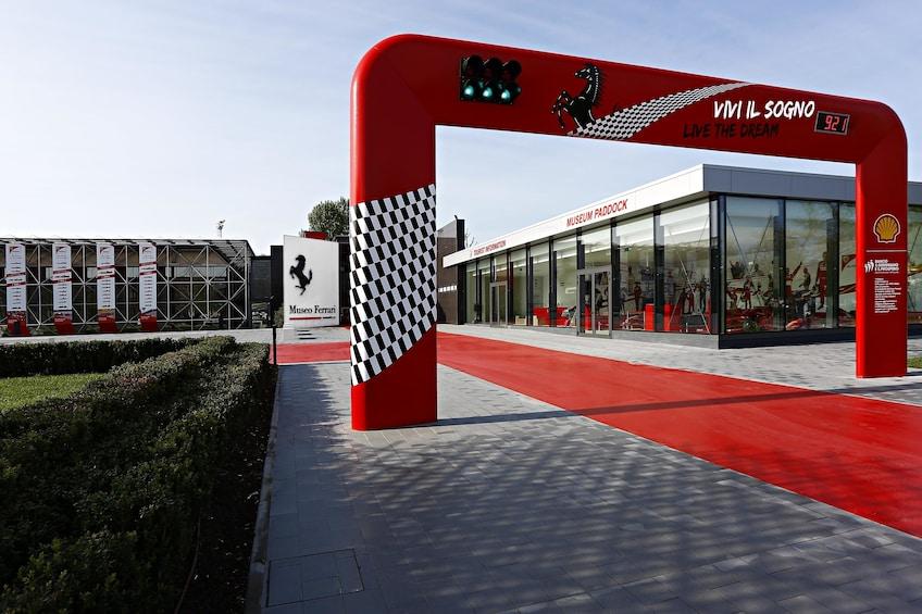 Entrance to the Ferrari Museum in Bologna