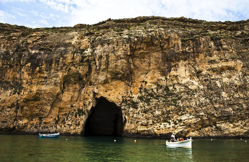 Inland sea cave in Gozo
