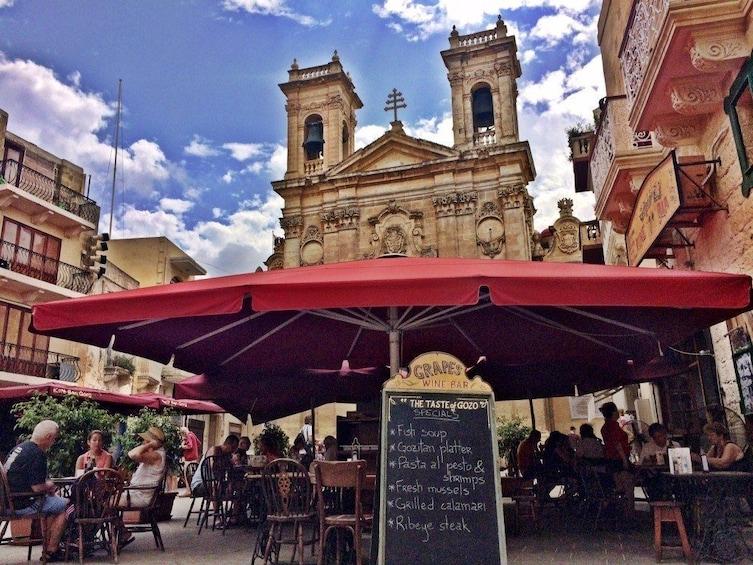 Restaurant in Victoria square, Gozo, Malta