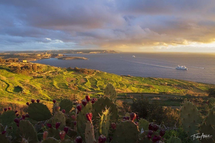 Show item 6 of 6. Sunset view of Gozo