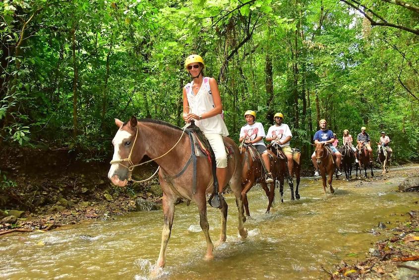 Show item 2 of 10. Group horseback riding in Herradura
