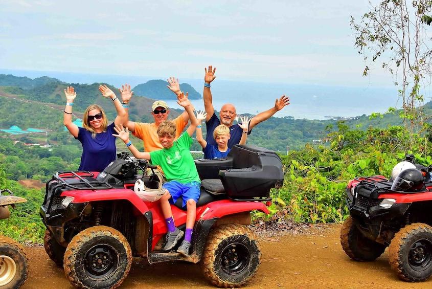 Show item 1 of 10. Group ATV tour in Herradura