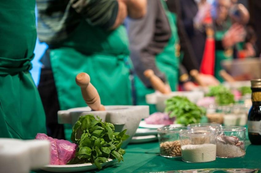 Show item 1 of 5. Authentic Pesto cooking class at the Cinque Terre