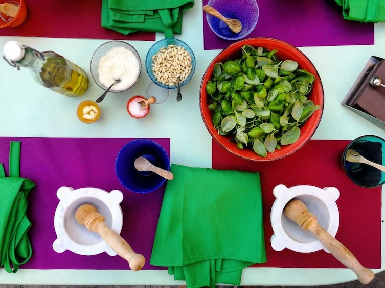 Show item 5 of 5. Authentic Pesto cooking class at the Cinque Terre