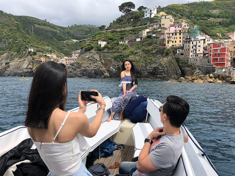 Show item 1 of 9. Private Sunset Boat Tour Along the Cinque Terre with Tasting