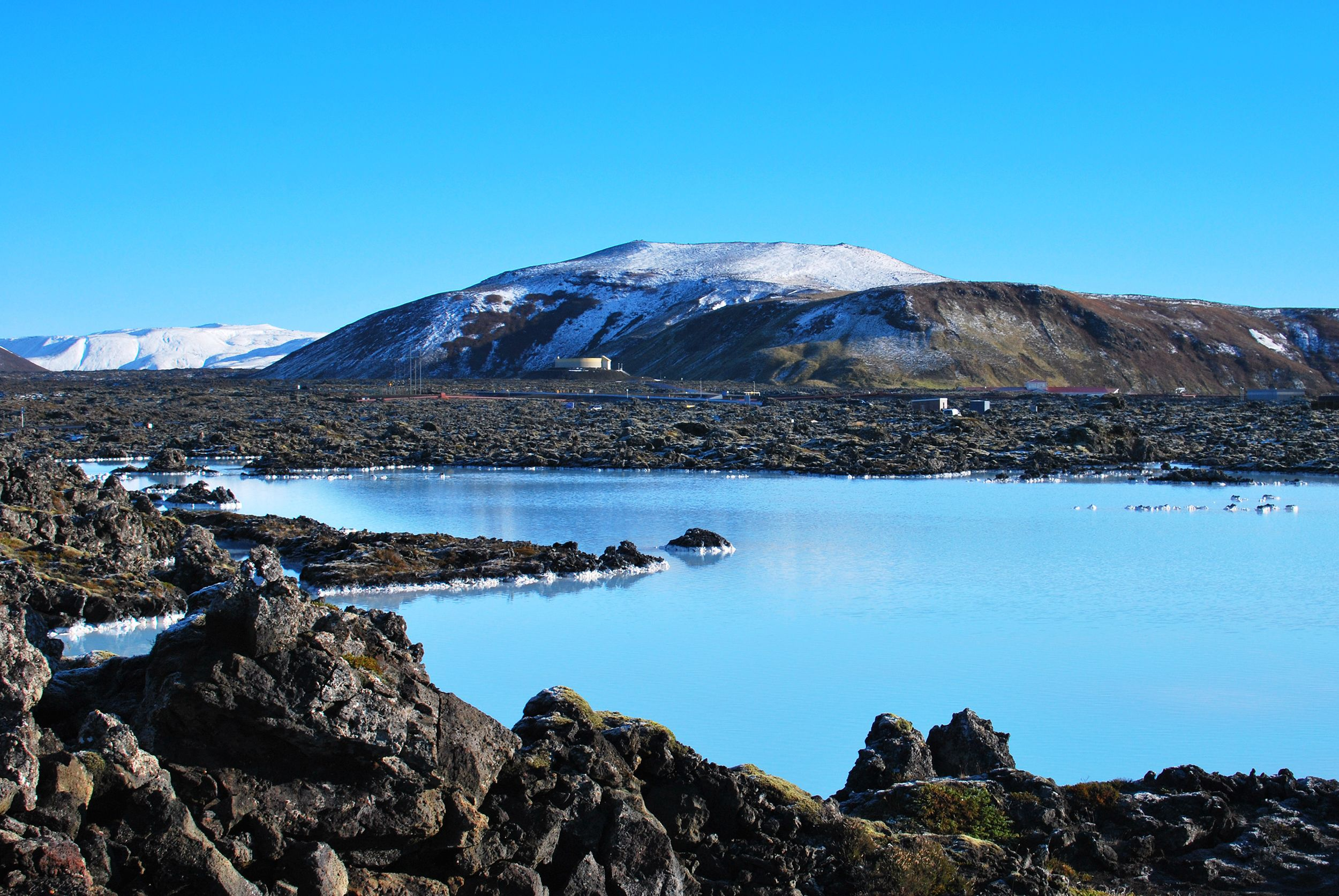 Beautiful landscape view of the Blue Lagoon in Iceland