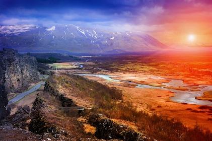 Breathtaking views of Þingvellir in Iceland