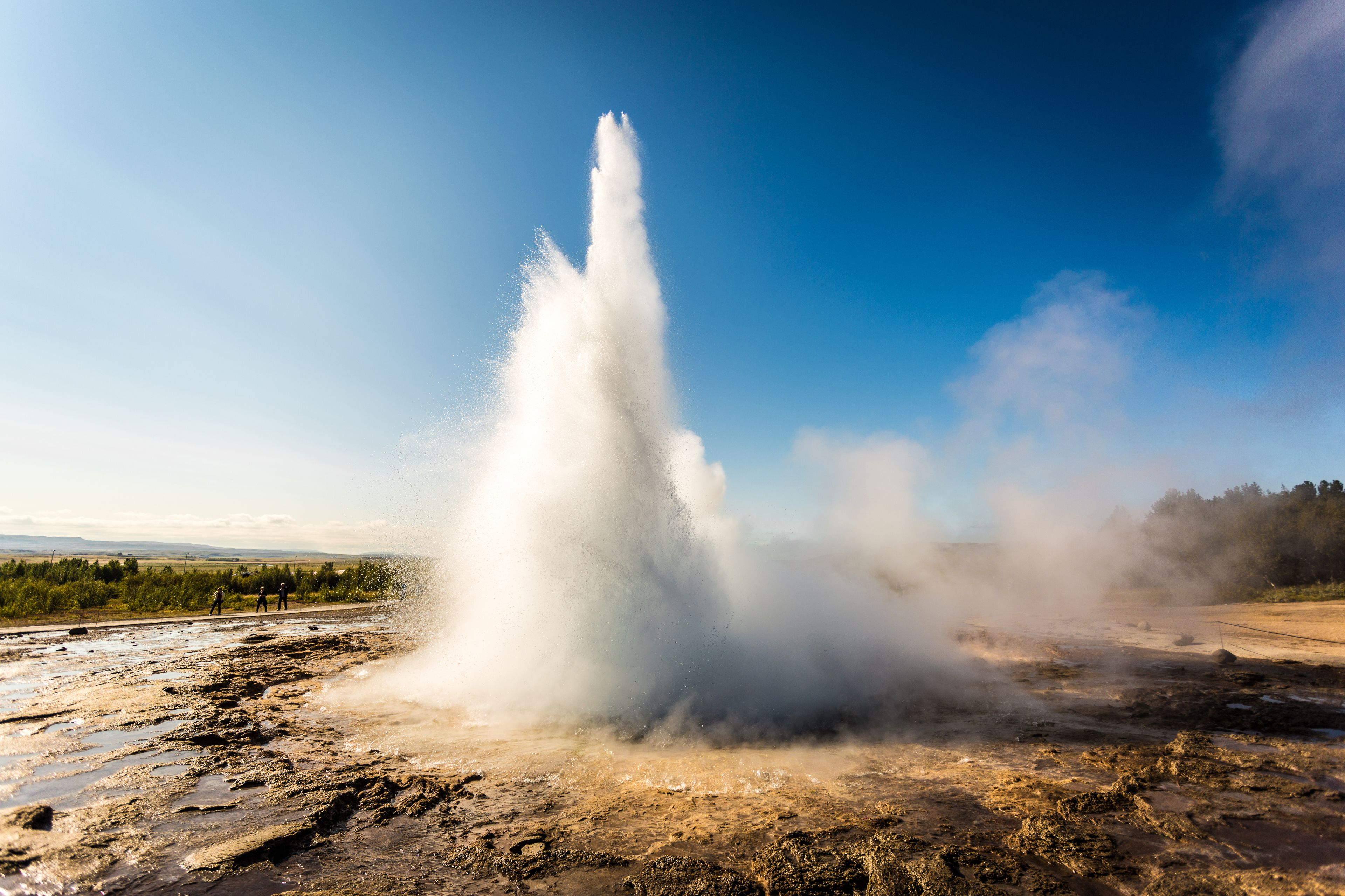Stunning view of Geysir in Iceland