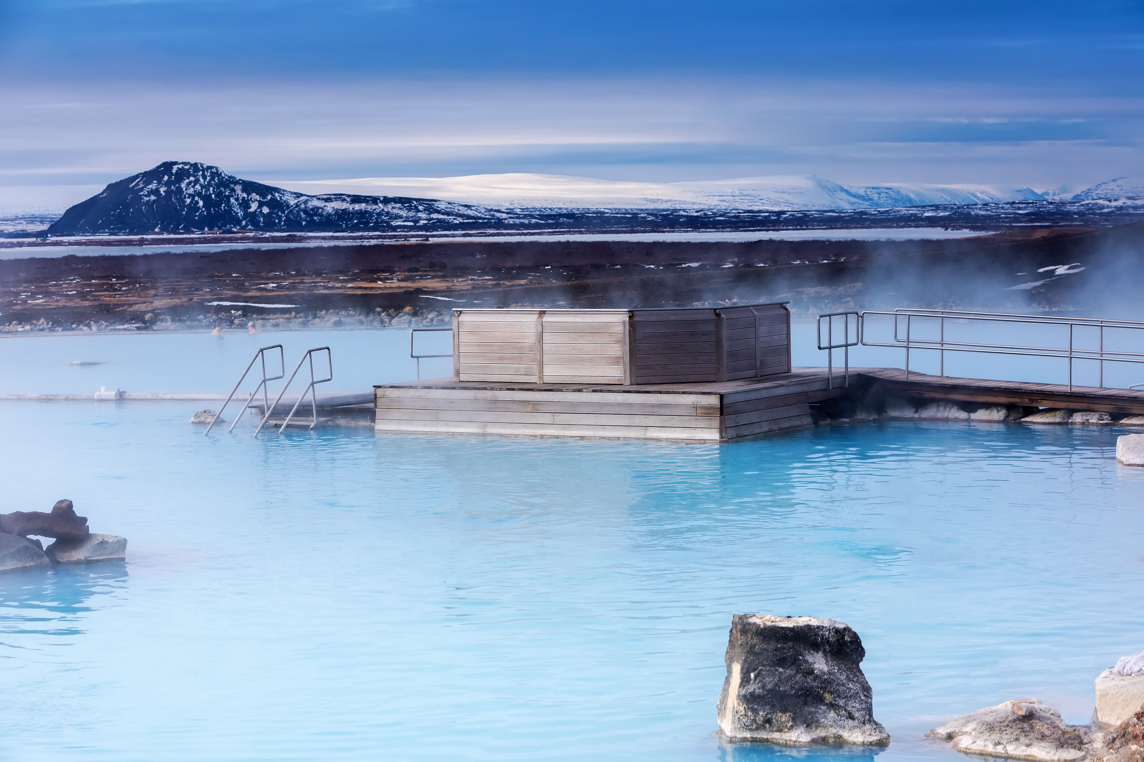 Serene view of the Blue Lagoon in Iceland