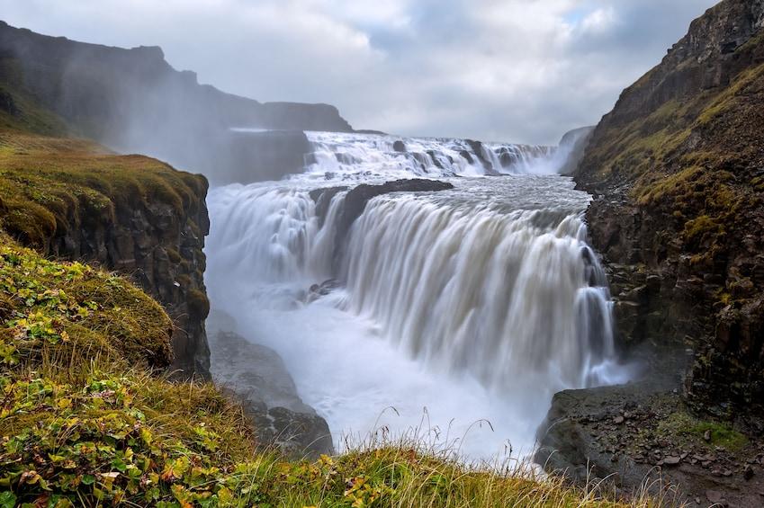 Show item 5 of 10. Gullfoss, the famous golden waterfall