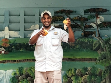 Man with fruit in Punta Cana