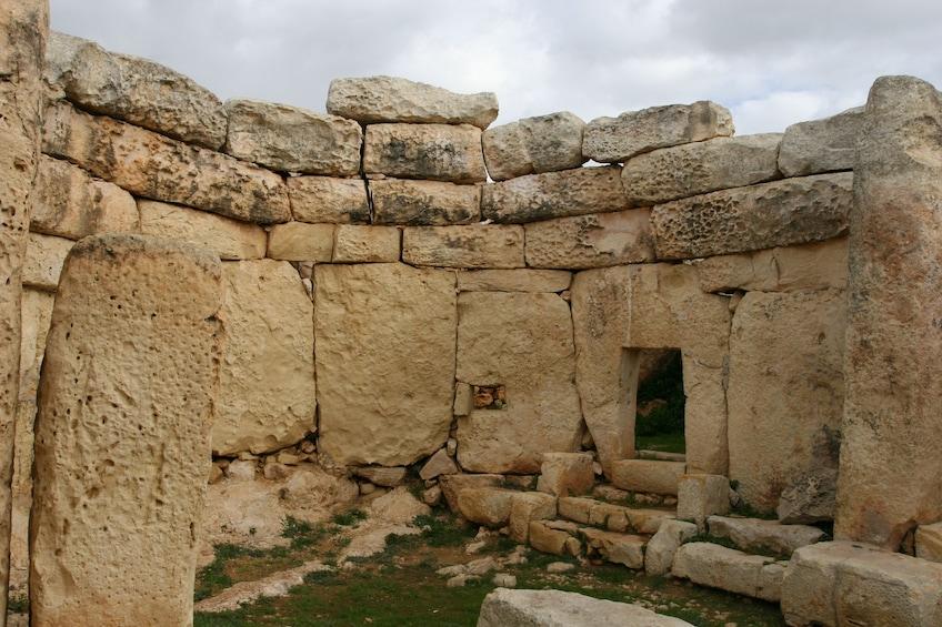 Ħaġar Qim on the Mediterranean island of Malta