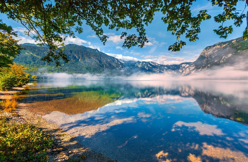 Show item 3 of 6. Lake and mountains in Slovenia