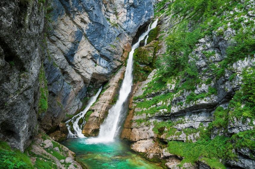 Show item 2 of 6. Waterfall in Slovenia