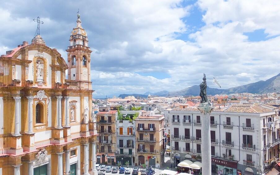 View outside the San Domenico, Palermo