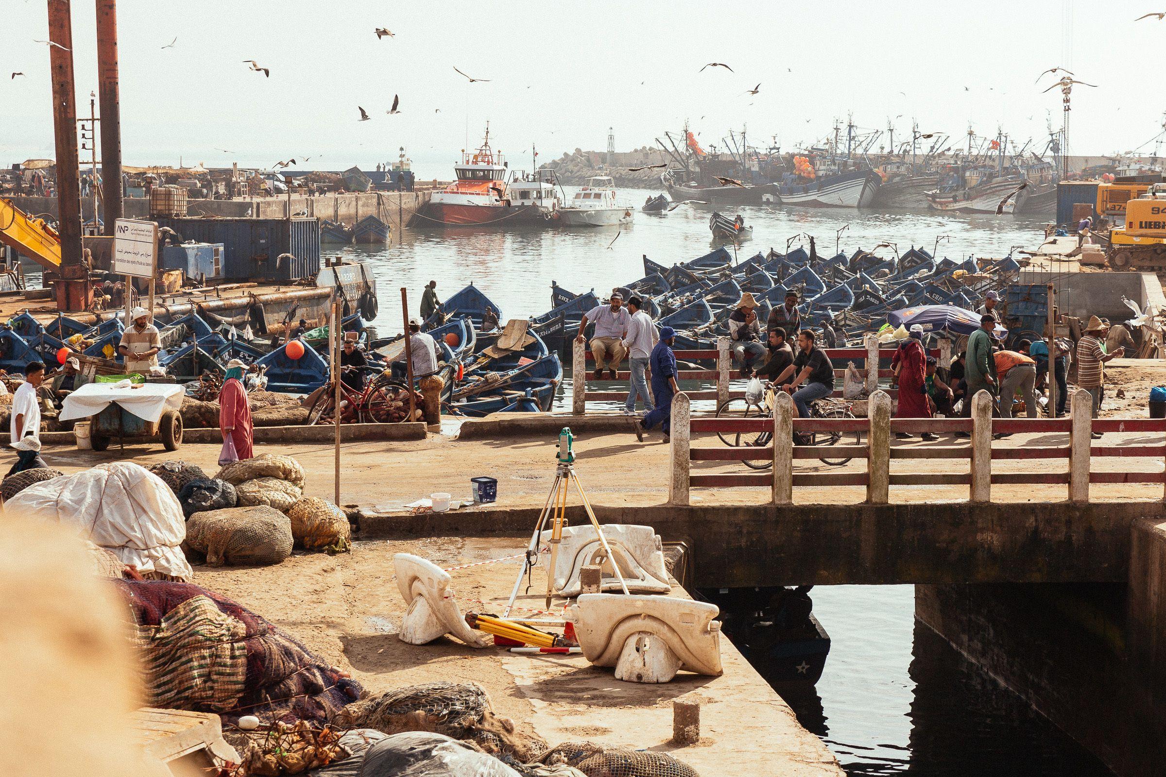 Docks in Essaouira