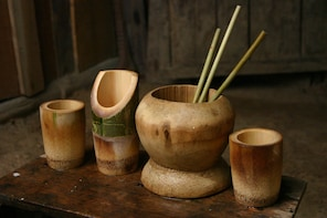Bamboo Cup & Straws Crafting